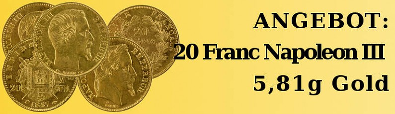 Angebot: 20 Franc Napoléon III 5,81g Gold