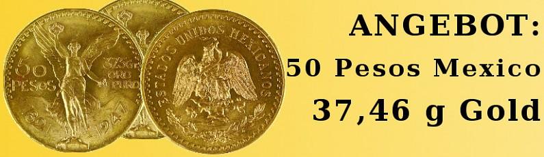 Angebot 50 Pesos Centenario Mexico