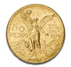 Ein wenig exotisch: 50 Pesos Mexiko 37,48g Gold