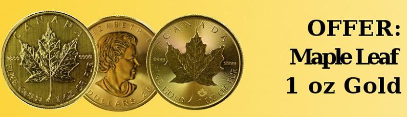 OFFER: 1oz Gold Maple Leaf
