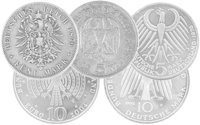 Silver coins from Germany, the Third Reich and the German Empire