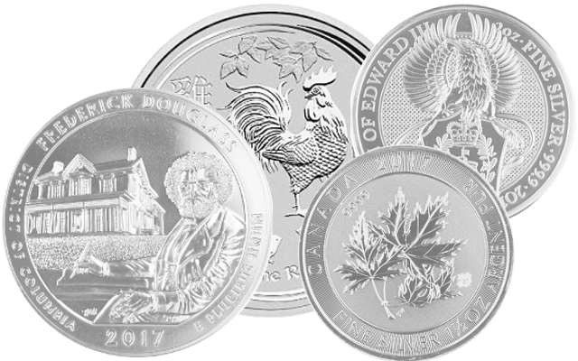 Pièces en Argent 1,25 - 10 onces: America the beautiful 5oz, Lunar II Coq 10oz, Queens Beast 2oz, Multi Maple 1,5oz