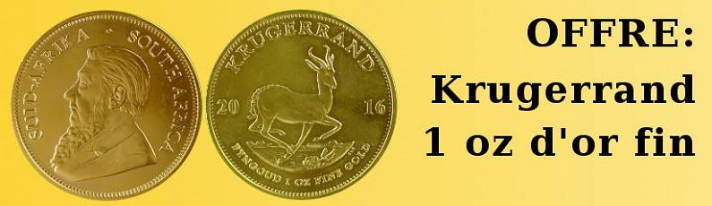 Offre Krugerrand 1 oz d´or fin