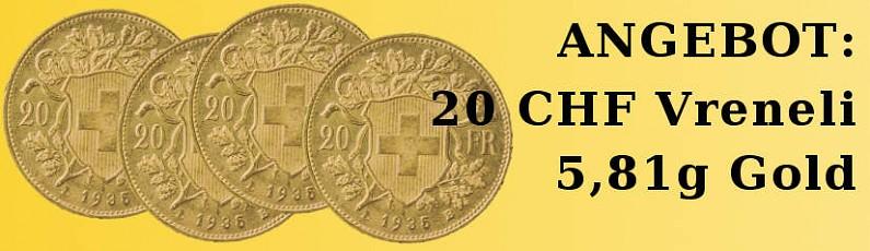 20 CHF Vreneli