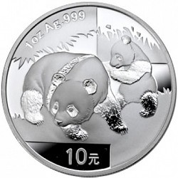 China Panda 2008 1 oz silver coin: A desired collector's item