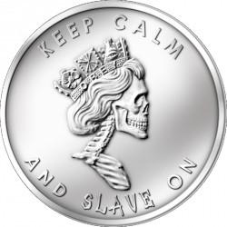 Médaille de collection rare avec un statut culte: Slave Queen médaille d'argent 1 oz