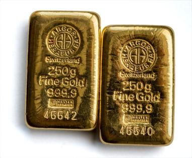 Goldbarren 2x 250g von Argor Heraeus