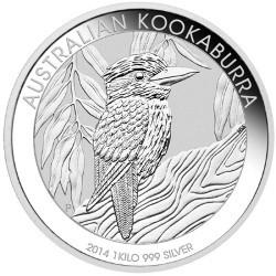 1 kg Silbermünze Kookaburra 2014 von der Perth Mint/Australien