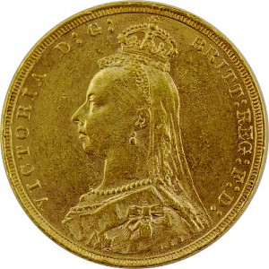 1 Pfund Sovereign Victoria Krone 7,32g Gold