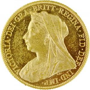 1 Pound Sovereign Victoria Old Head 7,32g Gold