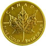 Maple Leaf 1/4oz Gold