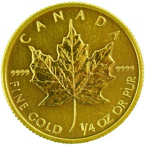 Canadian Maple Leaf 1/4oz Gold