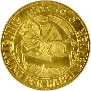 1000 Schilling autrichiens Babenberger 12,15g d'or fin