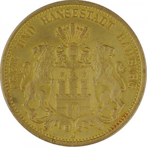20 Mark Hamburg 7,16g Gold