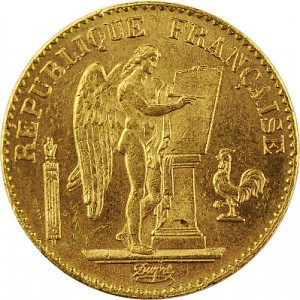 20 French Francs Angel 5,81g Gold