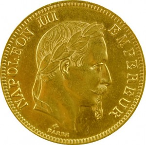 100 French Francs Napoleon III 29,05g Gold