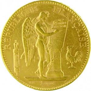100 Francs Genius / Stehender Engel 29,05g Gold