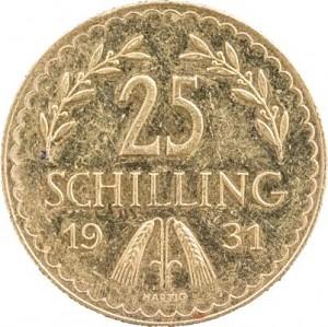25 Schilling Österreich 5,29g Gold