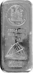 Silberbarren Münzbarren Heraeus Fiji 1 Kilogramm Silber