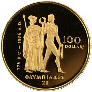 100 Dollar Kanada Olympic 1/2oz Gold Proof Coin
