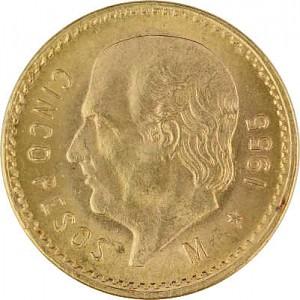 5 Pesos Hidalgo 3,75g Gold