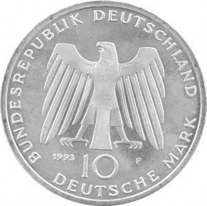 10 DM Gedenkmünzen BRD 9,69g Silber (1970 - 1997) - B-Ware