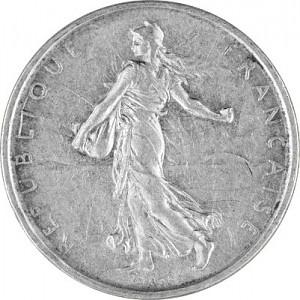 "5 Franc France ""Säerin"" 10,02g Silver (1959 - 1969)"