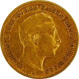 10 Mark Wilhelm II. 3,58g Gold