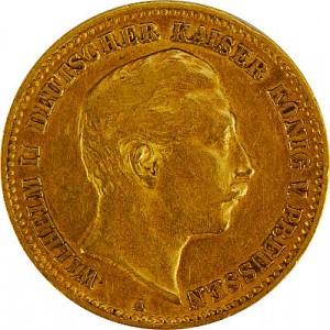 10 Mark Emperor Wilhelm II of Prussia 3,58g Gold