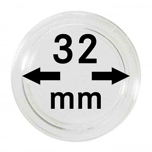 Coin Capsules 32mm, 10 Pieces