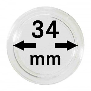 Coin Capsules 34mm, 10 Pieces
