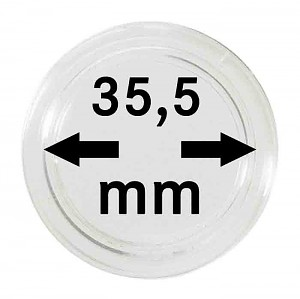 Coin Capsules 35,5mm, 10 Pieces