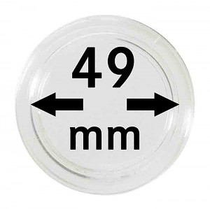 Coin Capsules 49mm, 10 Pieces