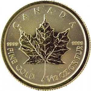 Maple Leaf 1/10oz d'or fin
