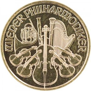 Philharmonique de Vienne 1/10oz d'or fin