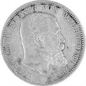 5 Mark Empire allemand 25g d'argent (1874 - 1914)