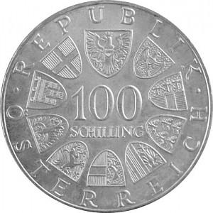 100 Schilling Österreich 15,36g Silber (1974 - 1979)