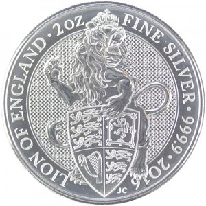 Queens Beast Lion 2oz Silver - 2016