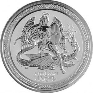 Archange Saint-Michael 1oz d'argent fin - 2016 Reverse Proof
