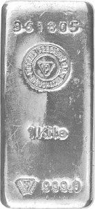 Silver Bar 1kg Silver - Circulated Stock