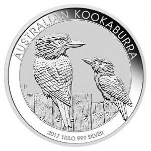 Kookaburra 1kg d'argent fin - 2017