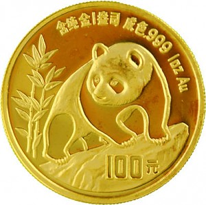 China Panda 1oz Gold - 1990
