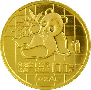 China Panda 1oz Gold - 1989