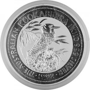 Kookaburra 1kg Silber - 1992