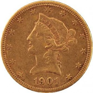 10 Dollar Eagle Liberty Head 15,05g Gold