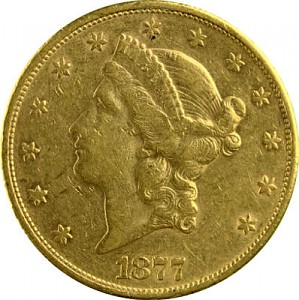 20 Dollar américaín Liberty Head 30,09g d'or fin