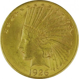 10 Dollar Eagle américain Indian Head 15,05g d'or fin