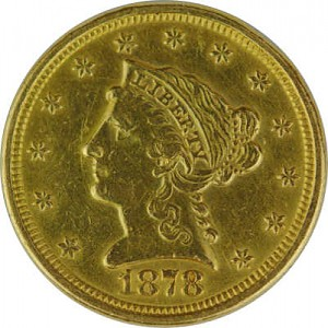 2,5 Dollar américian Liberty 3,76 d'or fin