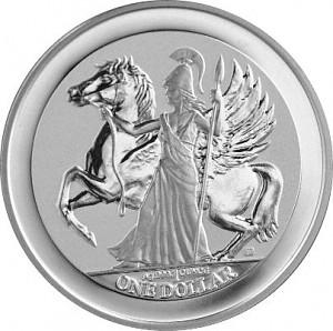Pegasus - Göttin Athene 1oz Silber - 2017 Reverse Proof