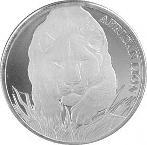 Afrika Tschad Löwe 1oz Silber - 2017